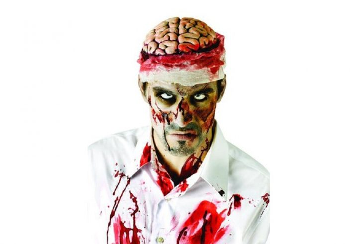 Zombie Brains Hat Bloody Brain Skull Head Organs Halloween Costume Monster Cap. GET UP TO 50% OFF – USE OUR PROMO CODE – HDMKWKK