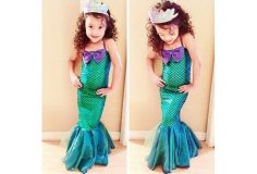 Kid Ariel Child Little Mermaid Set Girl Princess Dress Party Halloween Costume. GET UP TO 50% OFF – USE OUR PROMO CODE – HDMKWKK